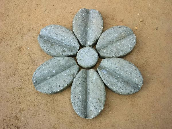 Fiore In Tufo GRIGIO 6 Petali